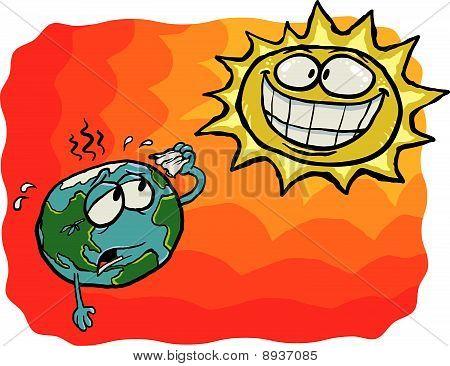Crazy Sun VS Earth