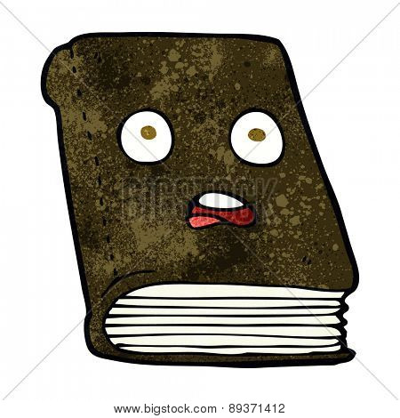 cartoon unhappy book