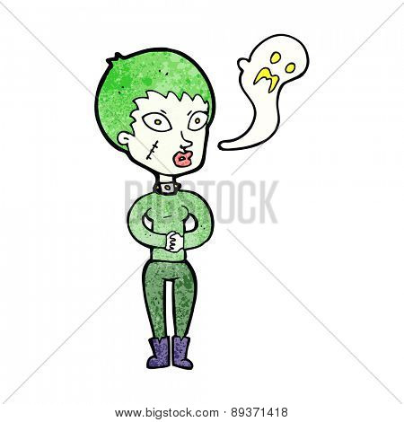 cartoon halloween girl