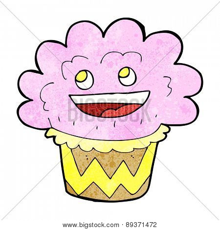 cartoon happy cupcake