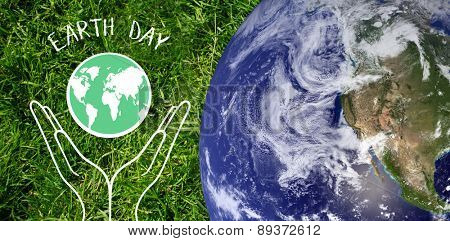 earth against grass background