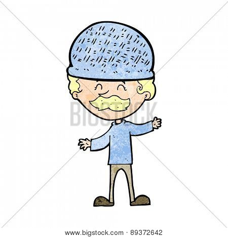 cartoon man wearing hat