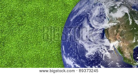earth against astro turf surface