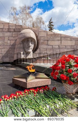The Eternal Flame At The Memorial Complex In Samara, Russia