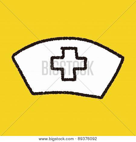 Nurse Hat Doodle Drawing