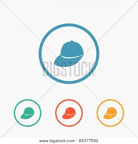 Baseball cap - Vector icon isolated