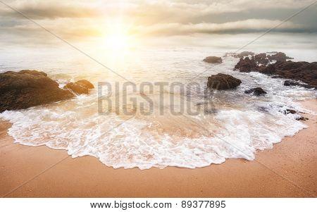 Glorious Sunrise Over The Sea
