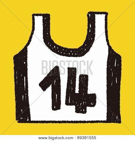 Sports Vest Doodle Drawing