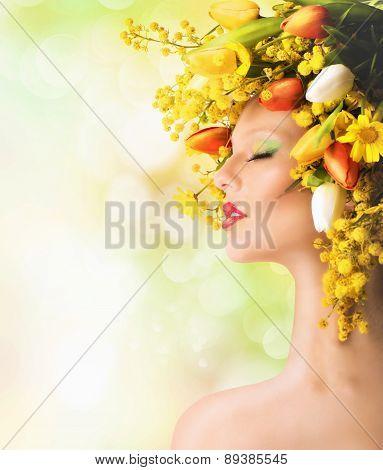 Tulips and mimosa beauty