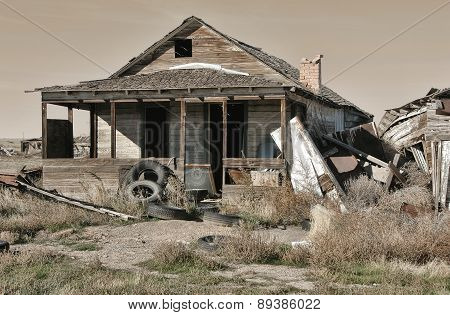 Ghost town of Cisco, Utah