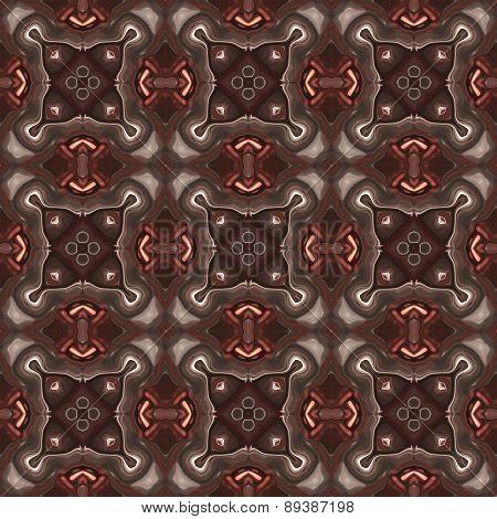 Seamless Kaleidoscope Texture Or Pattern In Brown Spectrum 3