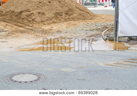 Flooding Construction Site