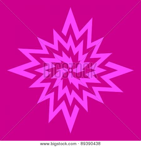Flower symbol on dark pink background