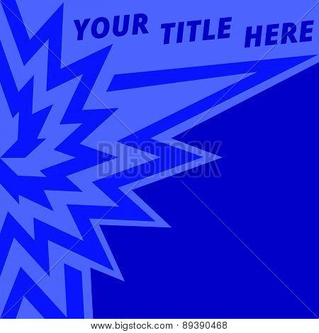 Dark blue text notice background