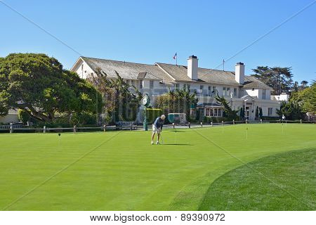 golf course of Pebble Beach