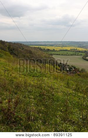 Chilterns Landscape. View From Whiteleaf, Princess Risborough.