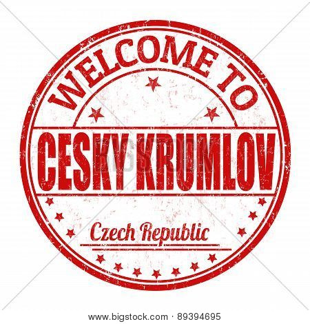 Welcome To Cesky Krumlov Stamp