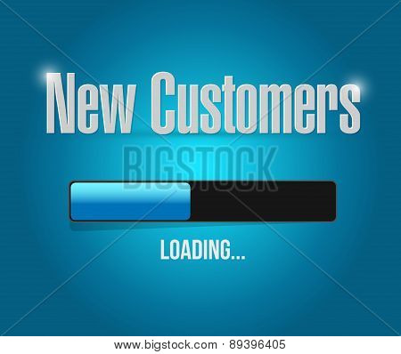 New Customers Loading Bar Sign Concept