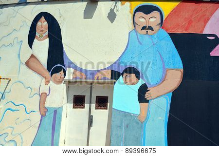 Mural tell the story of mexicans americans people