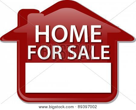 Illustration concept clipart home for sale sign house selling vector