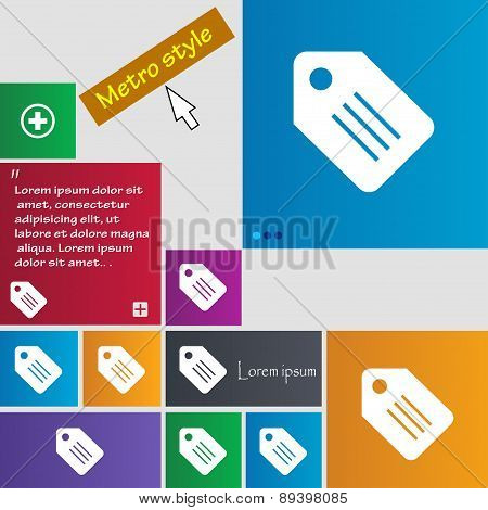 Special Offer Label Icon Sign. Metro Style Buttons. Modern Interface Website Buttons With Cursor Poi