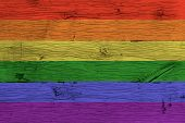 stock photo of gay symbol  - Rainbow gay homosexual flag - JPG