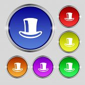 stock photo of cylinder  - cylinder hat icon sign - JPG