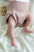 stock photo of baby bear  - Tiny little newborn daughter baby - JPG