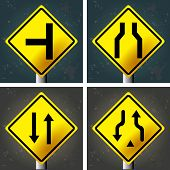 pic of traffic signal  - Set of textured backgrounds with traffic signals - JPG