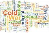 foto of cold-war  - Background concept wordcloud illustration of cold war - JPG