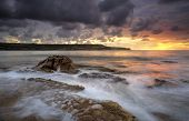 stock photo of cbd  - Sunrise at Long Bay and the Malabar Headland just 12klm from Sydney CBD - JPG