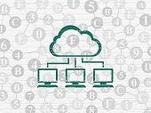 pic of wall cloud  - Cloud computing concept - JPG