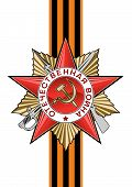 stock photo of patriot  - Order of the Patriotic war and George Ribbon in vector isolated over white - JPG