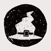 image of witch  - Witch Hat Doodle - JPG