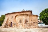 stock photo of mary  - Saint Michael church in Calafell town Spain - JPG