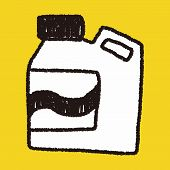 stock photo of detergent  - Laundry Detergent Doodle Drawing - JPG