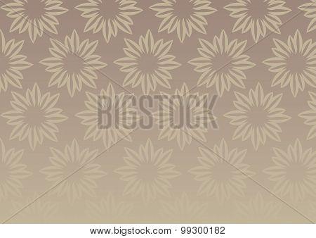 Brown Floral Design Vector Background Illustration