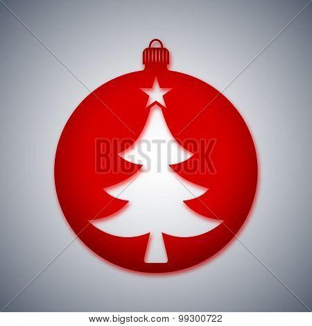 Christmas Ball Icon, Vector