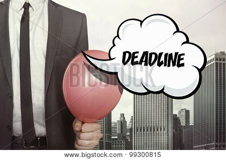 Deadline text on speech bubble