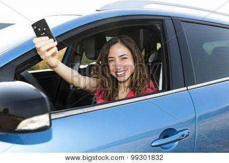 Woman Driver With Car Key