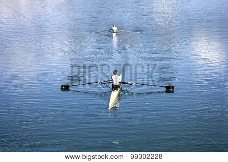 Two Young Rowers