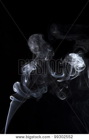 Smoke Isolate On Black Background