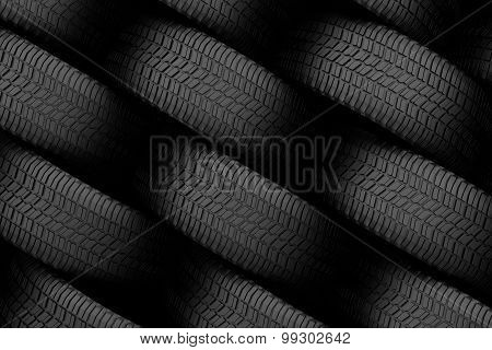 Black Tire Rubber.
