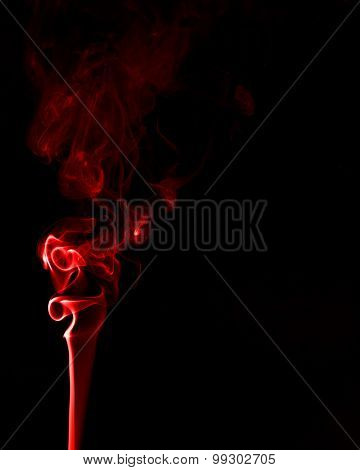 Red Smoke On Black Blackground