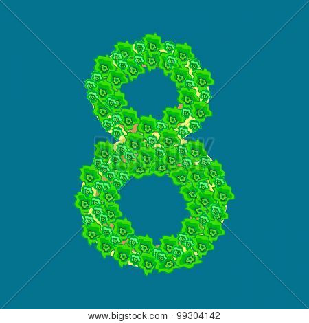 Figure Eight 8 Tropical Island