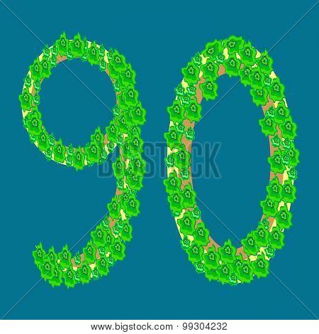 Figure Ninety 90 Anniversary Celebration Tropical Island