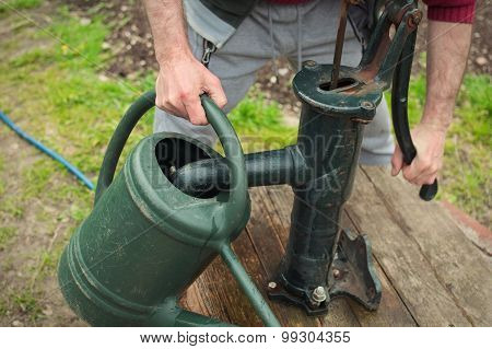 Filling Up The Watering-can (ls)