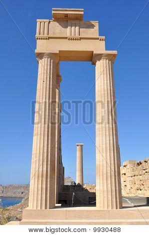Acropolis Lindos,island Rhodes,Greece