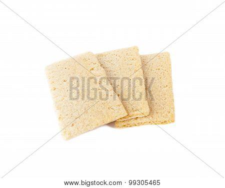 Diet rye Crispbread isolated on white