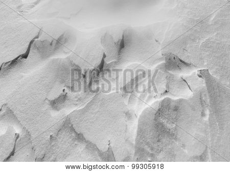 Snow background in monochrome